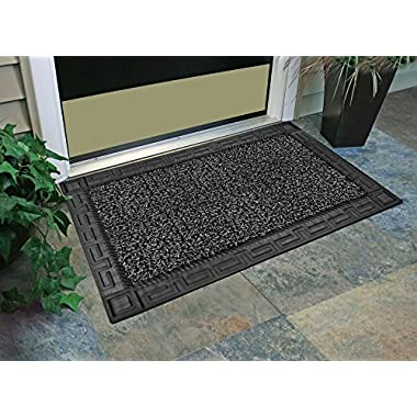 GrassWorx Omega Doormat, 24 by 36 , Flint