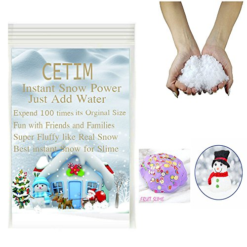 CETIM Instant Snow Power for Slime, Makes 2 Gallons of Fake Snow for Fluffy Slime, Best Instant Snow for Slime, Cloud Slime and Frozen Birthdays, Christmas Decorations And Wedding Decoration