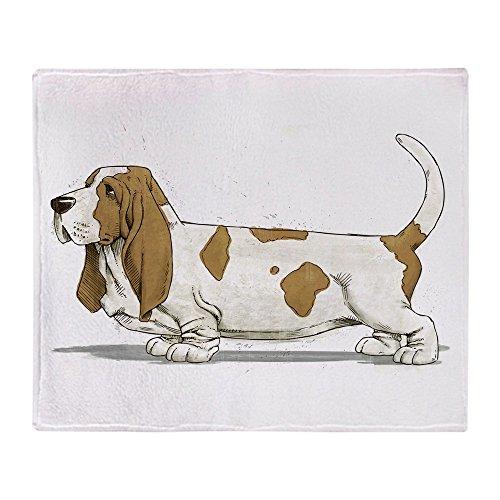 CafePress Basset Hound Soft Fleece Throw Blanket, 50