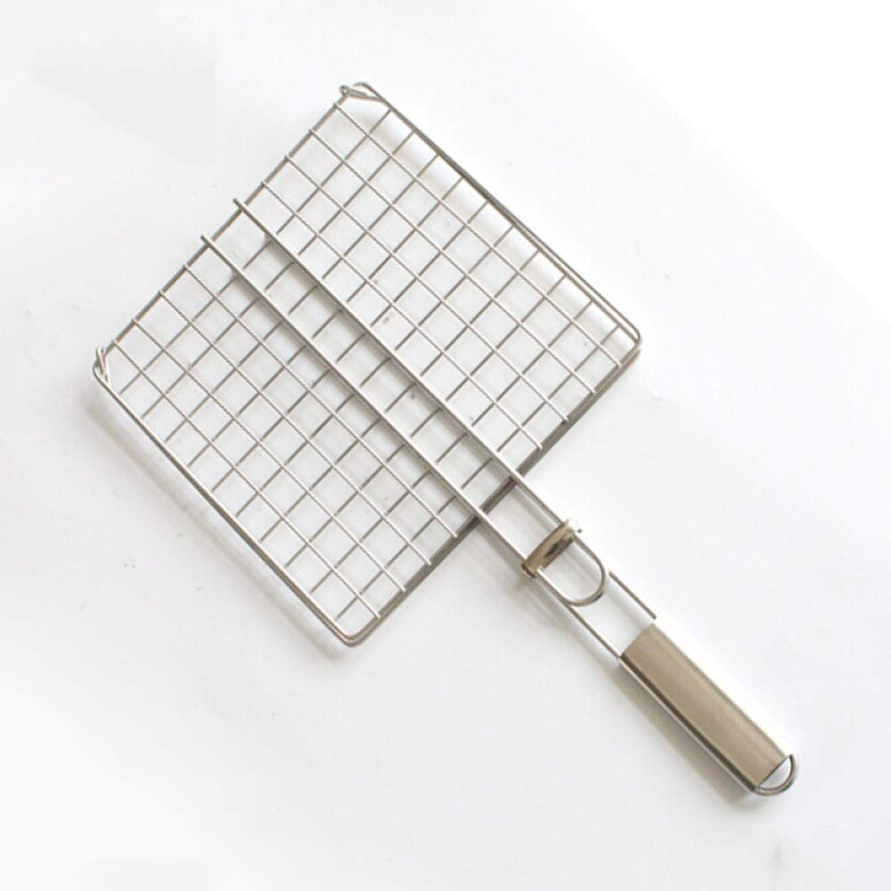 ROIY Stainless Steel Grilled Fish Net Large 304 Barbecue Net Shelf Commercial Barbecue Net Folder Scorpion Tempo Barbecue Tool by ROIY