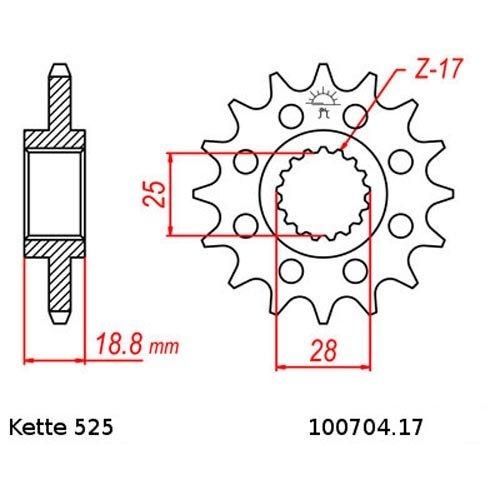 Kettensatz Aprilia ETV 1000 Capo Nord  01-09 Kette RK 525 GXW 112 offen 17//45