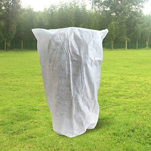 OriginA Plant Covers Protection Bags with Zipper for Outdoor Trees Shrub Jacket Bug/Insect Barrier Bag, 0.9oz/sq.yd, 96″x96″