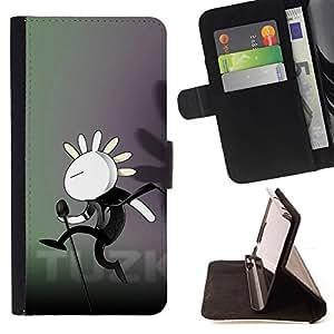 - Cute Dancing Bunny - - Monedero PU titular de la tarjeta de cr????dito de cuero cubierta de la caja de la bolsa FOR Sony Xperia Z1 L39 RetroCandy