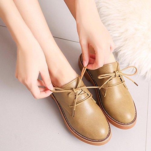 Bohème JIANGfu Casual Femme Rome Plat Dames Brun Shoes Pantoufles Chaussures Sandales Été Plat Courtes Cheville Chaussures Mode Mode Bottes Cuir Oxford qf1xq