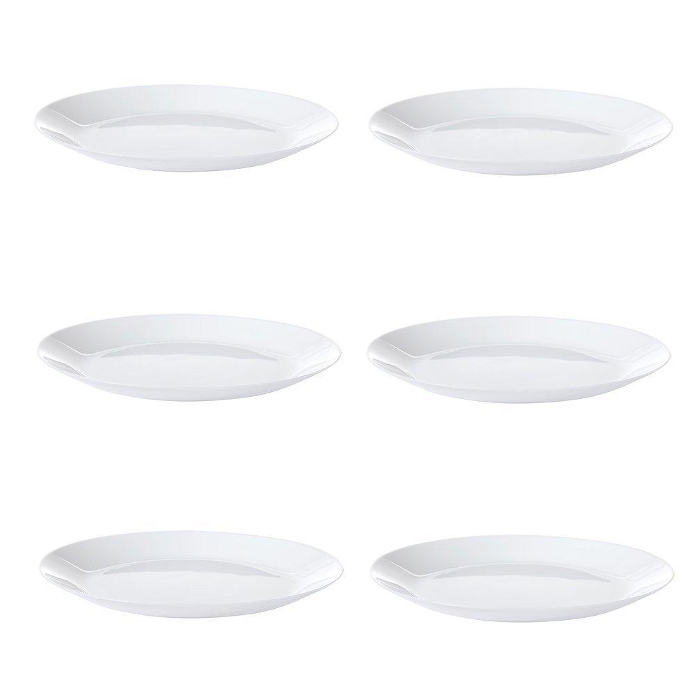; 6 Stück Speiseteller 25cm IKEA OFTAST Teller in weiß;
