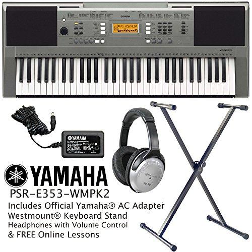 yamaha psr e353 keyboard including official adapter. Black Bedroom Furniture Sets. Home Design Ideas