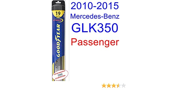 Amazon.com: 2010-2015 Mercedes-Benz GLK350 Wiper Blade (Passenger) (Goodyear Wiper Blades-Hybrid) (2011,2012,2013,2014): Automotive