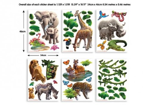 Walltastic WT4108 Mini Kit Jungle Adventure Dschungel Abenteuer