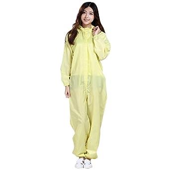Jubang Vestidos quirúrgicos de aislamiento mangas largas resistencia a altas temperaturas con capucha traje protector de enfermera antiestático ropa ...