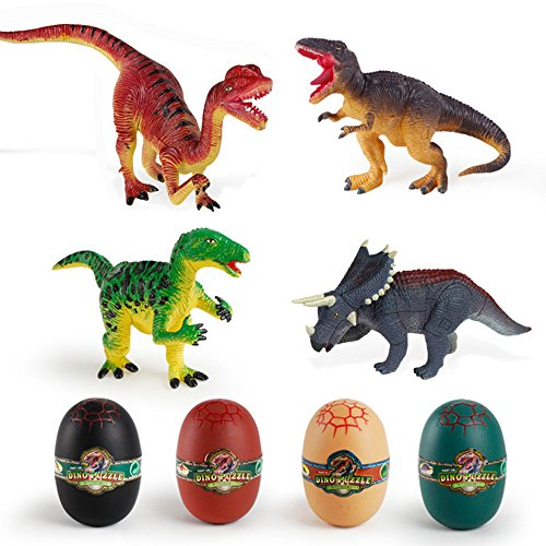 Enkman Dinosaur Eggs, Jurassic Dino Egg Toy, Splicing Dinosaur Figure, Gifts for Boys, Girls, Collectors, Dinosaur Theme Party Supplies, Birthday, Easter, Halloween, Christmas Presents (Halloween Theme Preschool)