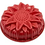 Marathon Housewares Premium Silicone Sunflower Cake Pan 5 PREMIUM QUALITY- HTV (High temperature vulcanization) and FDA approved silicone. EASY STORAGE- Flexible and retains original shape. Fold or roll for convenient storage. EASY TO USE- Effortless baking and cleaning. Easy release non-stick gourmet silicone bakeware.