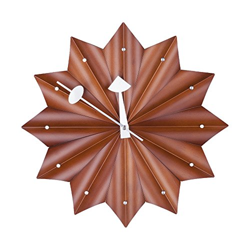 Stilnovo Medallion Wall Clock, Walnut