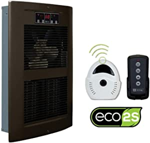 King Electric Large Pic-a-Watt, 240V, 2500-4500W, Electric 2-Stage Smart Wall Heater with Thermostat and Remote Control (4500 Watt / 240 Volt, Oiled Bronze)