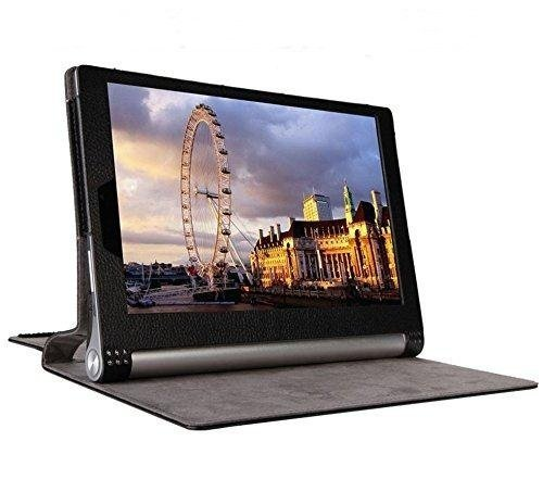 ProElite PU Leather Flip case Cover for Lenovo Yoga Tab 3 8 #34; 850F  Will only fit Yoga tab 3  [Black]