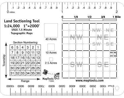 Land Sectioning Tool for 1:24,000 scale maps