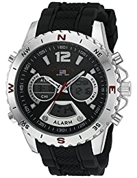 U.S. Polo Assn. Sport Men's Quartz Metal and Rubber Casual Watch, Color:Black (Model: US9550)