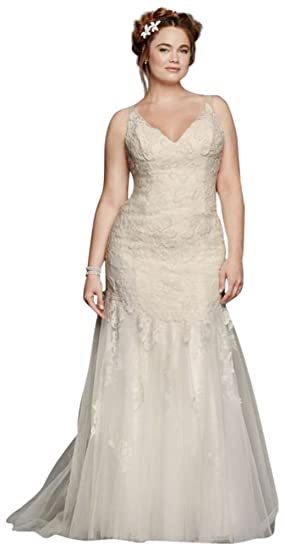 0e946193da1a9 Plus Size Melissa Sweet Illusion Tank Wedding Dress Style 8MS251150 ...