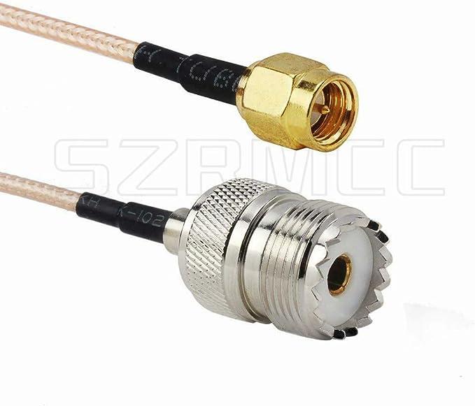 SZRMCC Antena de radio de mano RG316 Cable SMA macho a UHF SO ...