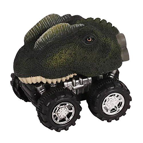Pull Back恐竜Cars、ビッグタイヤホイール車プレイセットfor Kids Toddlers Boys SK