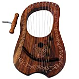 Brand New Lyre Harp 10 String Rose wood with