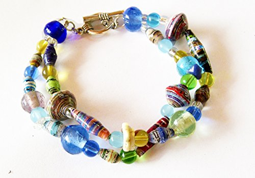Fairtrade Fair Trade Rare Earth 2-Strand Toggle Bracelet Handcrafted in Kenya Africa ()