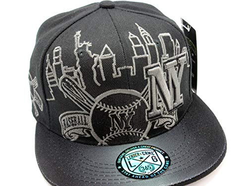 LEADER OF THE GAME New York Hat in Yankee Era Colors Black on Black