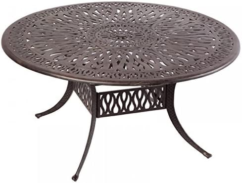 Elizabeth Outdoor Patio 60 Round Dining Table Dark Bronze Cast Aluminum