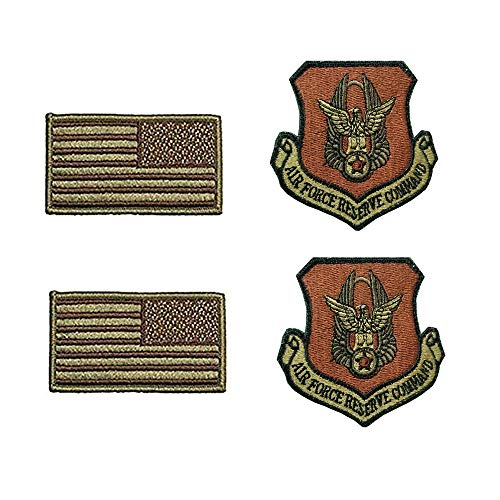 - US Air Force Reserve Command OCP Spice Brown Patch and Flag Bundle