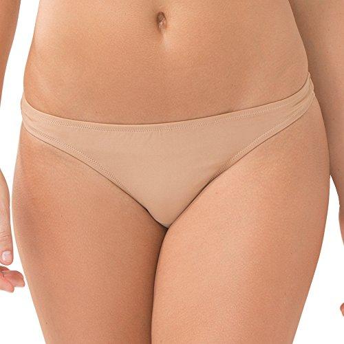 (Smart & Sexy Women's Swim Secret Teeny Bikini Bottom, Caramel, M)