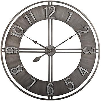 Amazon Com Delong Non Ticking Retro Metal Wall Clock 23