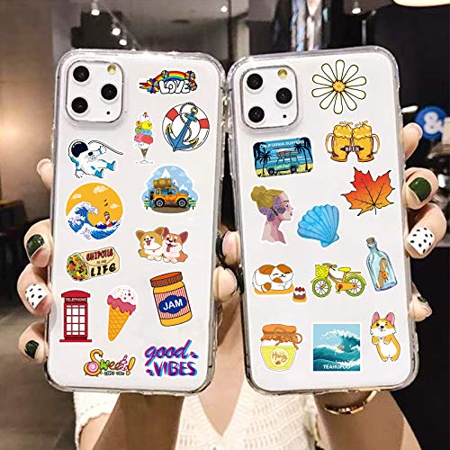 200pcs Mini Stickers, Stickers Pack for Phone, Cute Trendy Vinyl Stickers for Laptop, Cup, Cool Aesthetic Waterproof Sticers for Kids, Students, Adults