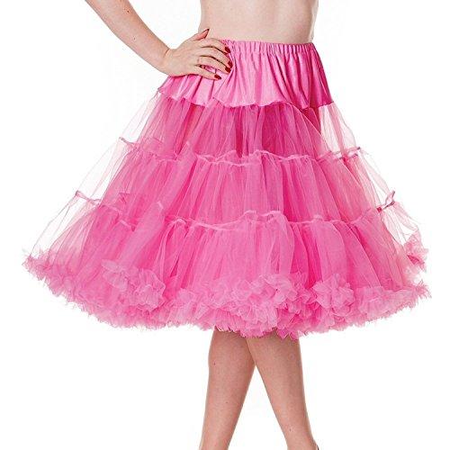 Con figura de conejo HELL 50s para faldas de color rosa AO PETTICOAT 50,8 cm