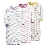 Marquebaby 3 Pack Baby Girls Boys Sleep Gown - 100% Cotton Soft Lightweight No-Scratch Mittens Sleeping Bag 90