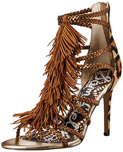 Sam Edelman Women's Savannah Dress Sandal, Chestnut/Antique Bronze, 8 M US
