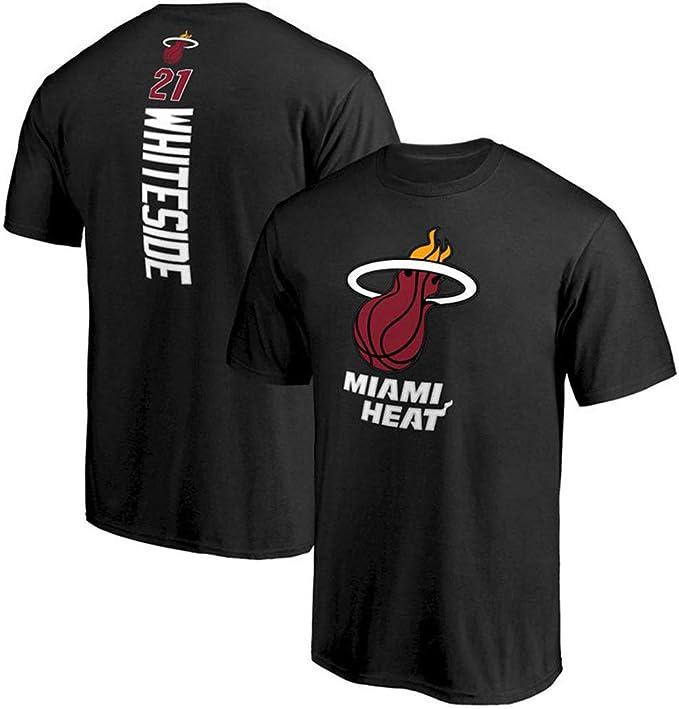 Camiseta NBA Miami Heat, Camiseta de Manga Corta de Baloncesto S ...