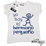 Dirty Fingers - Yo soy el hermano pequeño - Bebés 'Rocker pequeno' Camiseta, color blanco, 0-6 meses