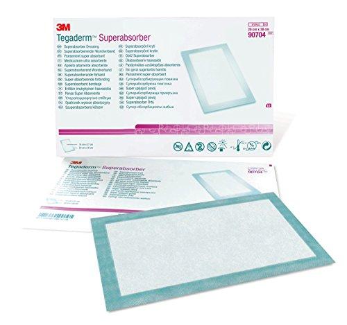 3M™ Tegaderm™ Superabsorber Dressing,  7-7/8 in. x 11-3/4 in. (20 cm x 30 cm), 10/box