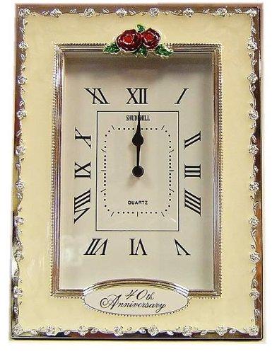 Clocks - 40th Anniversary Ruby Wedding Celebration Quartz Table Clock Shudehill Giftware 56577868648