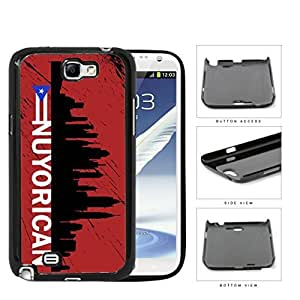 Nuyorican New York City Silhouette Hard Plastic Snap On Cell Phone Case Samsung Galaxy Note 2 II N7100
