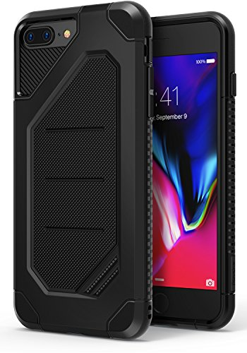 Ringke MAX Compatible with Apple iPhone 7 Plus, iPhone 8 Plus Phone Case Advanced Dual Layer Heavy Protection [Shock Absorption Technology] Armor Strength Protective Cover - Black