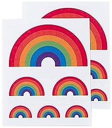 Tattly Temporary Tattoos, Rainbow, 0.1 Ounce