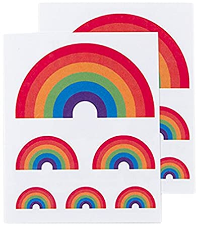 6a7d38438 Amazon.com : Tattly Temporary Tattoos, Rainbow, 0.1 Ounce : Beauty