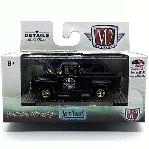 M2 Machines Limited Edition Gold Chase Piece 1956 Ford F-100 Truck Auto-Trucks Series Release 38 - 2016 Castline Premium Edition 1:64 Scale Die-Cast Vehicle (1 of only 750)