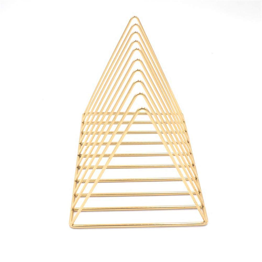 Triangle Metal Book Rack Desktop File Organizer with 9 Sections Storage Rack Bookshelf Holder for Magazines, Books, Newspapers in Bathroom, Family Room, Office, Den by Aolvo (Image #1)