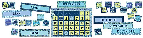 Paper Magic Educational Blue Harmony Calendar with (Halloween Bulletin Boards For The Classroom)