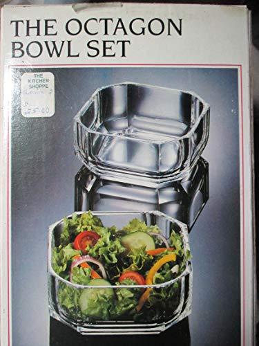 - Grainware Octagon Bowl Set of 4 Acrylic Bowls