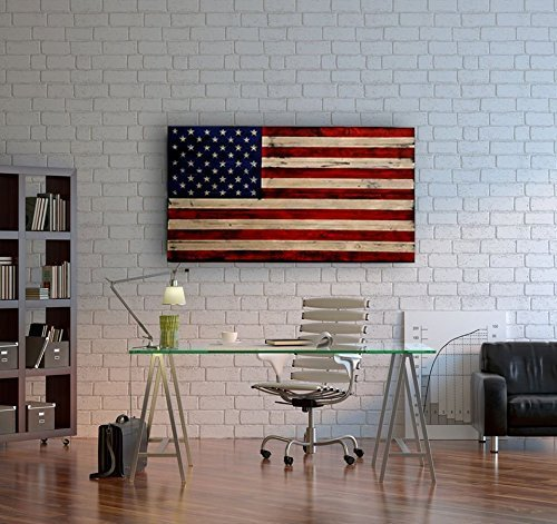 Large Distressed American Flag by Rustic Patriot Arts