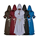 VERNASSA Medieval Monk Robe Priest Robe Halloween