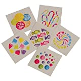 Assorted Candy Theme Temporary Tattoos (Party Pack: 288 Tattoos)