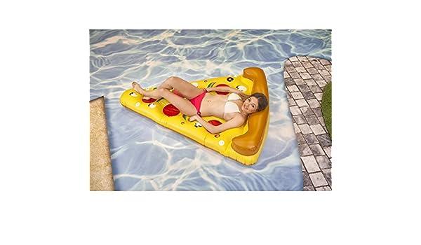 Colchoneta hinchable Pizza de 180x140 cm: Amazon.es ...